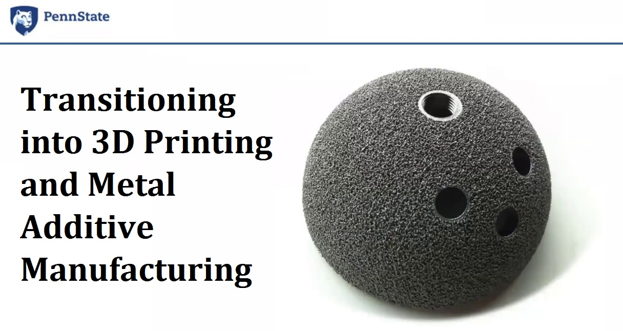 Transitioning into 3D Printing and Metal Additive Manufacturing