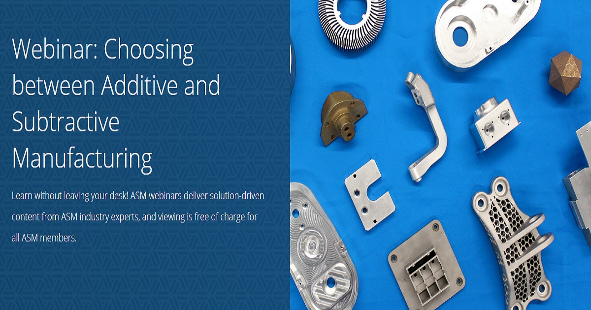 Choosing between Additive and Subtractive Manufacturing