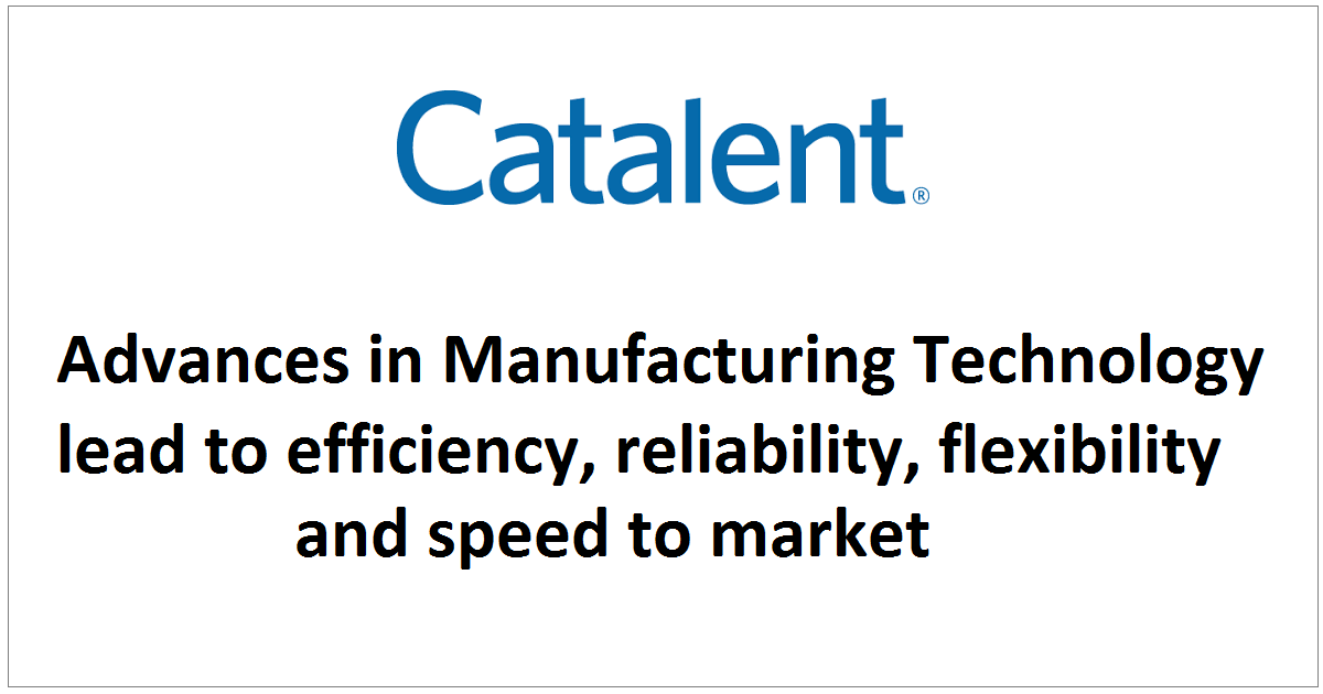 Advances in Manufacturing Technology lead to efficiency, reliability, flexibility and speed to market