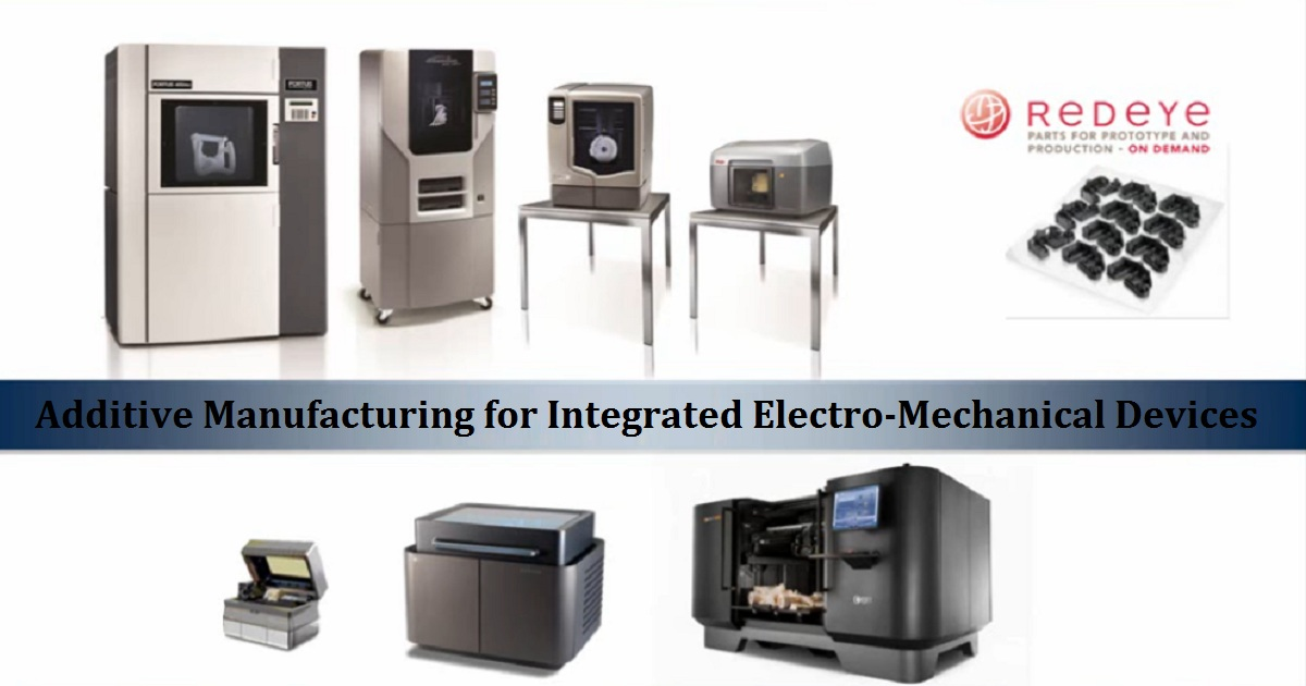 Additive Manufacturing for Integrated Electro-mechanical Devices