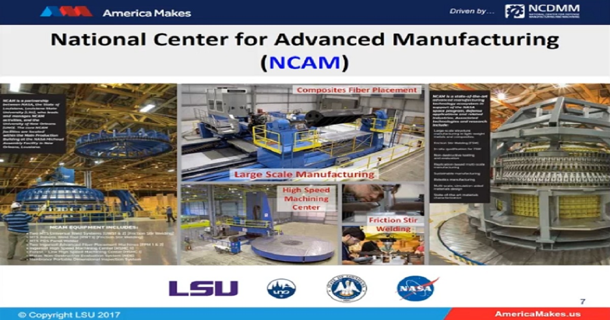 Additive Manufacturing, Advanced Manufacturing, and Materials at LSU