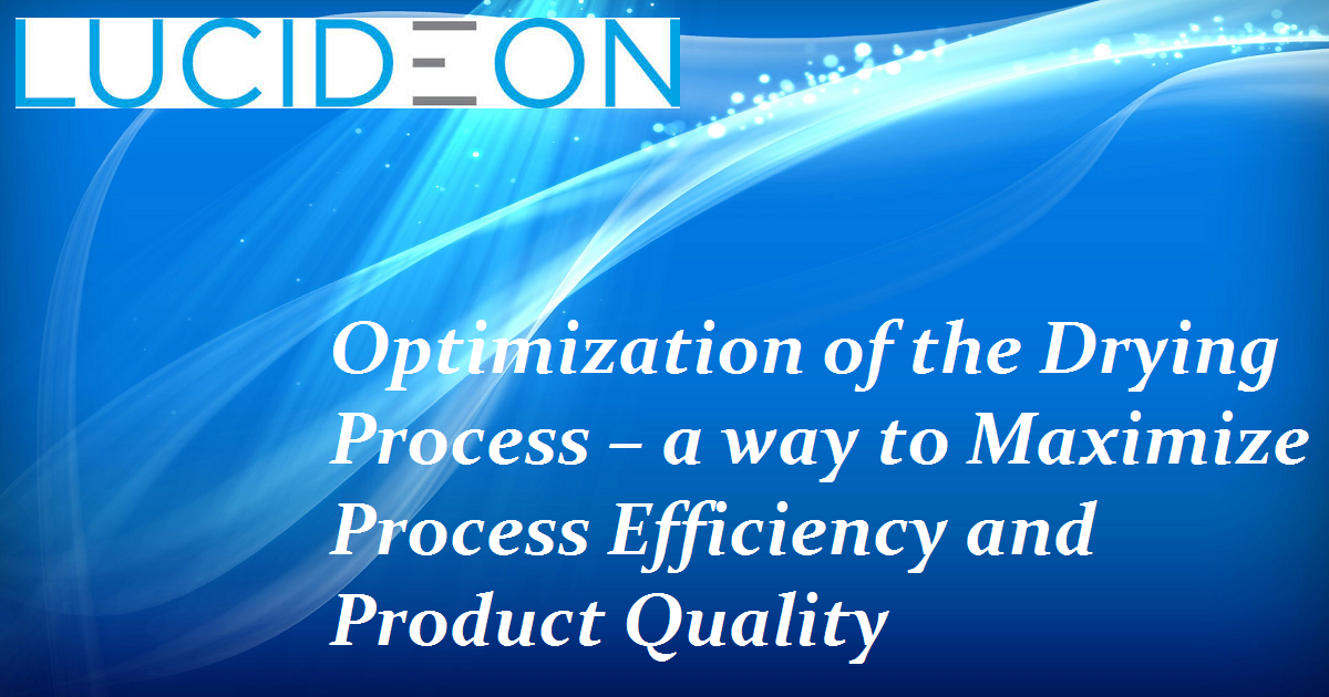 Optimization of the Drying Process – a way to Maximize Process Efficiency and Product Quality
